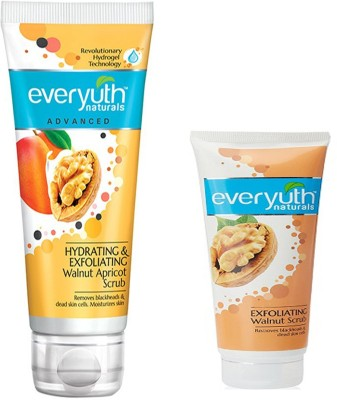 EVERYUTH NATURALS HYDRATING & EXFOLIATING WALNUT APRICOT SCRUB 100 GM + EXFOLIATING WALNUT SCRUB Scrub(150)