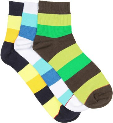Soxytoes Men's Striped Ankle Length Socks(Pack of 3)