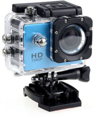Technuv Action Shot Full Hd 12mp 1080p Sports and Action Camera(Blue 12 MP)