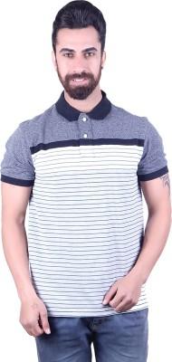 EMERA Striped Men's Polo Neck Black, Grey T-Shirt