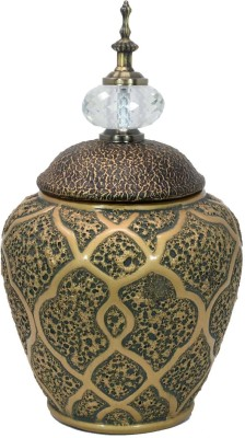 Scrafts Rugged Jar Shaped Plants Ceramic Vases With Lid for Home/living  Room/Party/Wedding/Office Decor LWH(cms)=11X11X18 Ceramic Vase(30 inch,