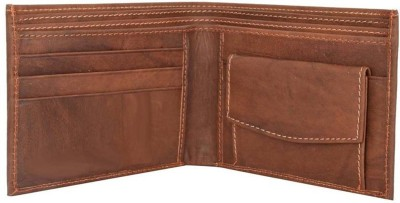 OODI Men Tan Genuine Leather Wallet(10 Card Slots)  available at flipkart for Rs.149