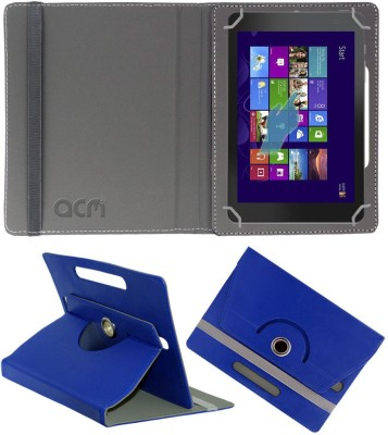 ACM Flip Cover for Dell Venue 8 Pro 3000 Series(Dark Blue, Cases with Holder, Artificial Leather)