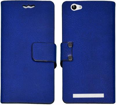 Mysha Flip Cover for Lava A88, Lava A88 flip cover, Lava A88 Desginer Flip cover, Lava A88 mobile flip cover(Blue)