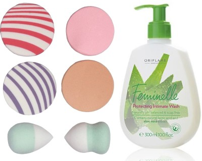 2eee4ba85e Buy Oriflame Sweden Feminelle Protecting Intimate Wash 300ml (31326) With  Puff Sponge(Set of 7) on Flipkart
