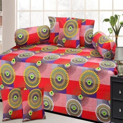 WI International Polycotton Floral Diwan Set  available at flipkart for Rs.335