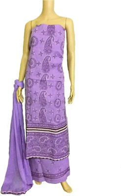 nazya creations Cotton Embroidered Salwar Suit Dupatta Material(Un-stitched)