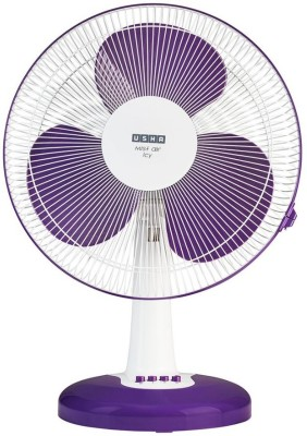 Usha Mist Air Icy 400 mm 3 Blade Table Fan(Purple, Pack of 1)