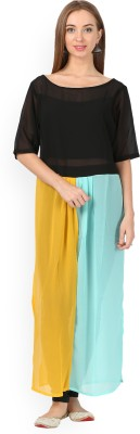 Libas Solid Women's Straight Kurta(Multicolor)  available at flipkart for Rs.387