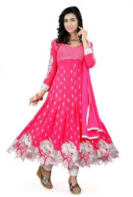Online Bazaar Embroidered Kurta & Salwar(Stitched)