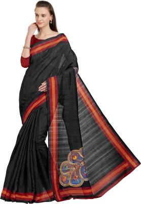41faeb2c3e64c View Mirchi Fashion Printed Bhagalpuri Art Silk Saree(Black