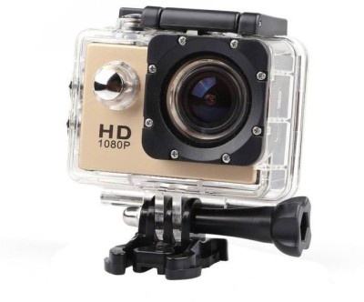 Technuv Action Shot Full HD 12MP 1080P Sports and Action Camera(Gold 12 MP)