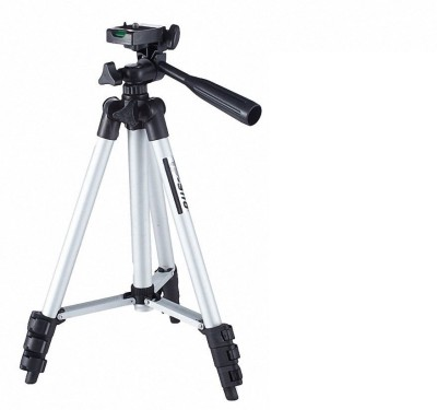 VibeX ® TF-3110 40.2 Inch Portable Camera Tripod with Three-dimensional Head & Quick Release Plate Tripod(Silver, Black, Supports Up to 1500 g) 1