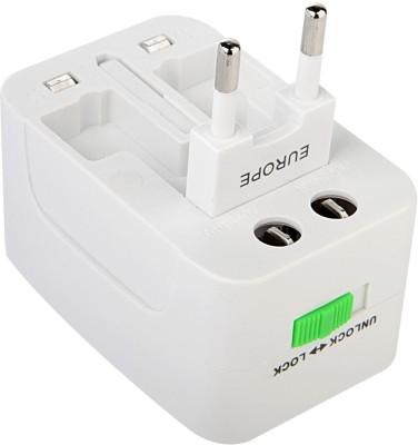 NeroEdge All in One Universal Travel Plug Adapter AC Power Plug Converter Worldwide Adaptor White