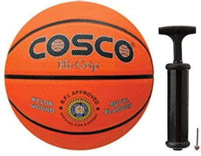 COSCO Hi Grip Basketball with Hand Pump  Size 5 Basketball   Size: 5 Pack of 1, Brown COSCO Basketballs