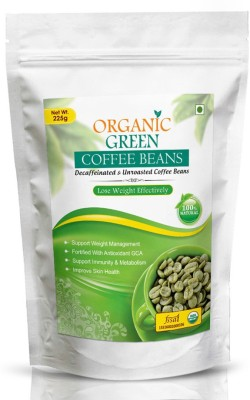VOKIN BIOTECH Organic Green Coffee Beans 225gm Decaffeinated & Unroasted Roast & Ground Coffee 225 g