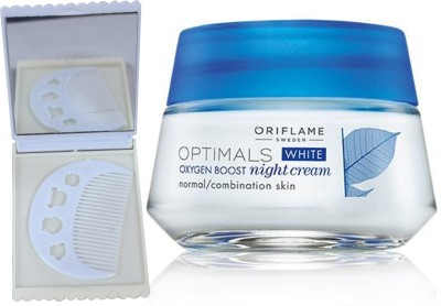 Oriflame Sweden Optimals White Oxygen Boost Night Cream Normal/Combination Skin 50ml (26841) With Comb Mirror Set(Set of 3)  available at flipkart for Rs.677