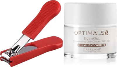 Oriflame Sweden Optimals Even Out Day Cream SPF 20 50ml (32479) With Nail Cutter(Set of 2)  available at flipkart for Rs.699