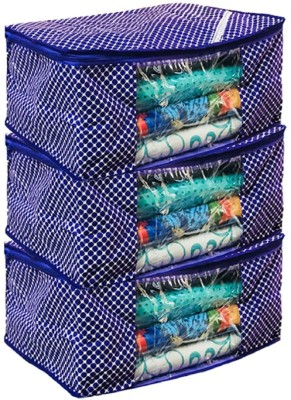 KUBER INDUSTRIES Designer Cotton 3 Layered Quilted Saree Cover Set of 3 Pcs  Purple  COMBHATHKADI28 Purple KUBER INDUSTRIES Garment Covers