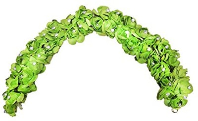 Confidence Artificial Flowers For Bun Decoration (Green) Hair Chain(Green)