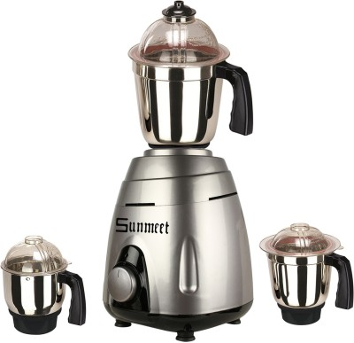 Sunmeet SM_VGuard_Grey_MG17 TA 4 800 W Mixer Grinder Metallic Grey, 3 Jars Sunmeet Mixer Juicer Grinder