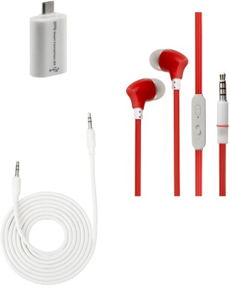 Trust Headphone Accessory Combo for Xiaomi Redmi Note 4 White, Red Trust Mobiles Accessories Combos