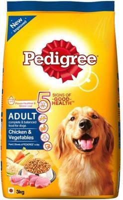 Pedigree Adult Chicken, Vegetable 3 kg Dry Dog Food