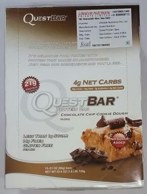 QUEST NUTRITION CHOCOLATE CHIP COOKIE DOUGH Protein Bars(720 g, CHOCOLATE CHIP COOKIE DOUGH)
