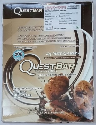 QUEST NUTRITION DOUBLE CHOCOLATE CHUNK Protein Bars(720 g, DOUBLE CHOCOLATE CHUNK)