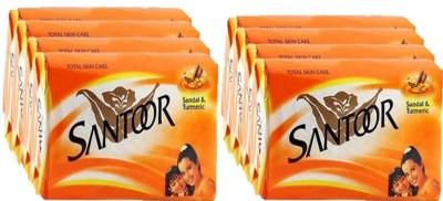 SANTOOR SANDAL & TURMARIC SOAP(8 x 12.5 g) at flipkart