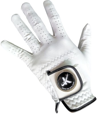 Koel Ke-Pro Magnet Golf Glove White - Left Hand Golf Gloves (L, White)