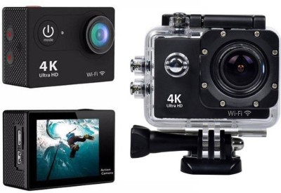 Aksmy 4k 4K Ultra HD 12 MP WiFi Waterproof Digital & Sports Camcorder With Accessories Sports and Action Camera (Black 12 MP) Sports and Action Camera
