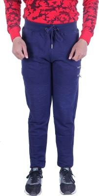 EMERA Solid Men's Dark Blue Track Pants