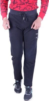 EMERA Solid Men's Black Track Pants