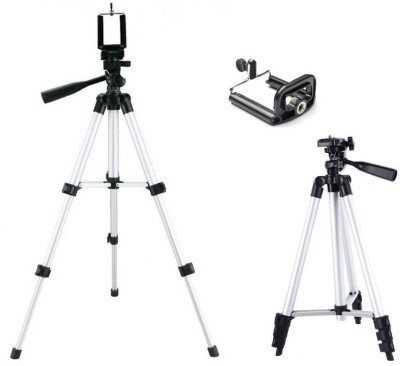 VibeX ™ NEW Pro Tripod TF-3110 Portable Tripod Stand For Camera and phone Tripod Kit(White, Black, Supports Up to 1500 g) 1