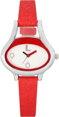 piu collection PC Lorem_Red Oval shape Casual Looking Watch Watch  - For Women   Watches  (piu collection)
