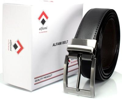 Alfami Men Formal, Party, Casual Black, Brown Texas Leatherite Reversible Belt