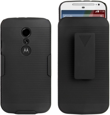 Cubix Front   Back Case for Motorola Moto G Dual SIM  2014  Black