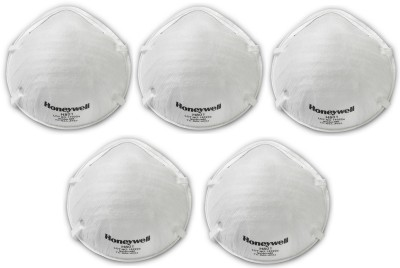Honeywell Pollution mask PM2.5 dust mask smog mask pack of 5 H801 N95 Mask 5 Pcs Mask and Respirator