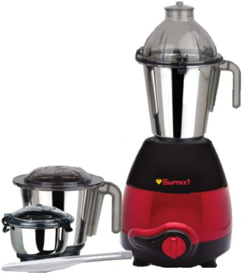 sumeet sem2010 230 Mixer Grinder(blace&red, 3 Jars)  available at flipkart for Rs.3750