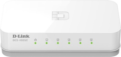 D-Link des-1005c Network Switch(White)