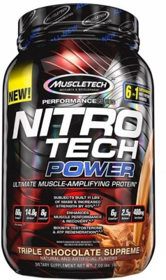 Muscletech Performance Series Nitrotech Power Whey Protein(907 g, Triple Chocolate Superme)
