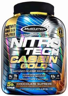 Muscletech Performance Series Nitrotech Gold Casein Protein(2.28 kg, Chocolate Supreme)