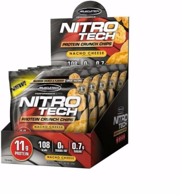 Muscletech Performance Series Nitrotech Crunch Protein Chips(125 g, Nacho Cheese)