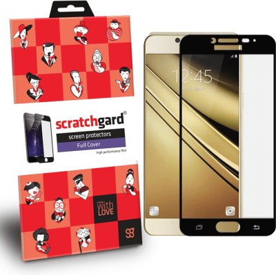 Scratchgard Edge To Edge Tempered Glass for Samsung Galaxy C9 Pro - Full Cover(Pack of 1)