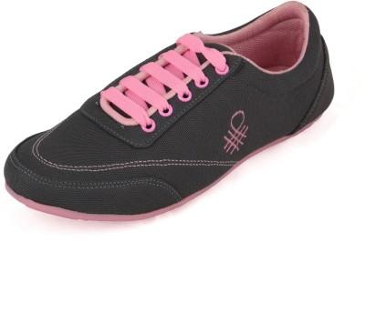 Affron Canvas Shoes For Women(Grey, Pink)
