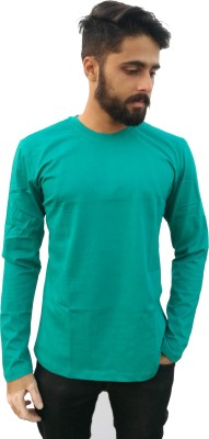 Redfool Fashions Solid Men's Round Neck Green T-Shirt