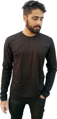 Redfool Fashions Solid Men's Round Neck Black T-Shirt