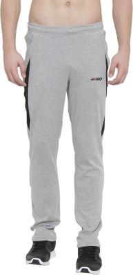 2GO Solid Men Grey Track Pants