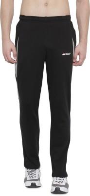 2GO Solid Men Black Track Pants
